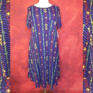 NWT LulaRoe Purple Print Carly Dress Size …